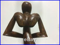 VTG. HAND CARVED Wood ABSTRACT Folk Art MID-CENTURY MODERN SCULPTURE