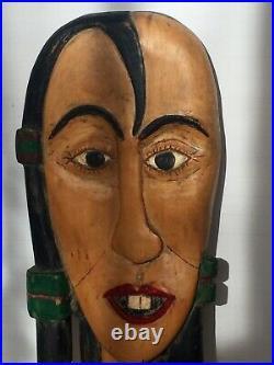 VTG Loranzo Dow Pugh 1978 Wood Carving Carved Folk Art Signed