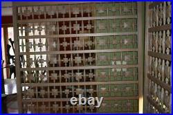 VTG MCM GIANT wood room divider panels Tiki 50's 60's partition wall sculpture