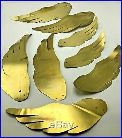 VTG Masketeers Flying Geese Ducks Wall Art Mid Century Modern Wood Brass Kit