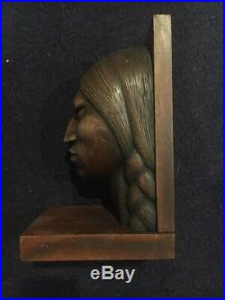 Vintage 1950s Wood Carved Aymara Native Couple Sculptures -Bolivian Art Arias