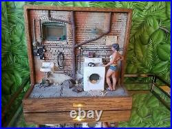 Vintage 1984 Michael Garman Sculpture 61/2500 Lady In The Laundry Room