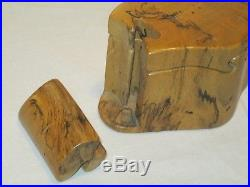 Vintage 1987 DON RUPARD Hand Crafted Spalted BURL WOOD Sculpture PUZZLE BOX
