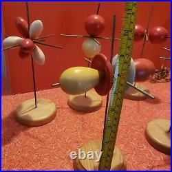 Vintage 60s Danish Modern Molecular Sculpture Wire Abstract Art (SET of 5)