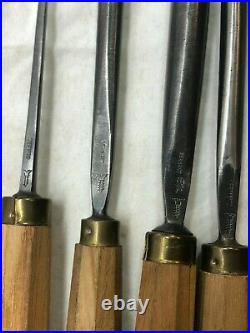 Vintage 9-pc Dastra Wood Carving Chisels Germany Steel Woodworking Chisel Gouge
