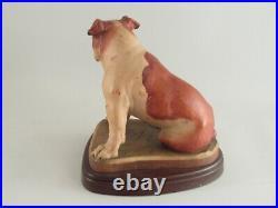 Vintage ANRI Bulldog Wood Carving Signed Helmut Diller Italy