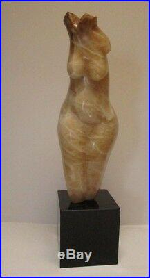 Vintage Abstract Expressionism Modernism Wood Cuban Nude Sculpture Statue Cubist
