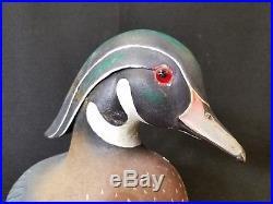 Vintage Antique Wood Duck Decoy Sculpture Signed W. WALTON Ontario Canada