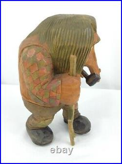 Vintage Anton Sveen Norwegian Troll with Pipe and Stick