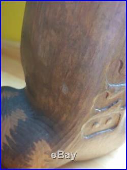 Vintage Big Sky Carvers Jeff Fleming Emily Raccoon Wood Carved Statue Sculpture