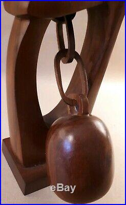 Vintage CARVED Wood ABSTRACT sculpture MID-CENTURY MODERN
