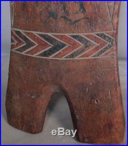 Vintage Carve Wood Shield Philippine Hawaii Polynesia Oceanic Artifact Sculpture