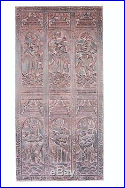 Vintage Carved Door Panel Kamasutra Wall Sculpture BARNDOOR Resort Design