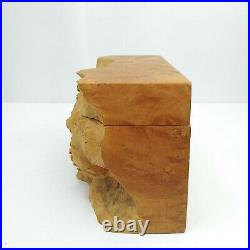 Vintage Charles Elkan Natural Edge Burl Wooden Box Sculpture Maple Wood 8
