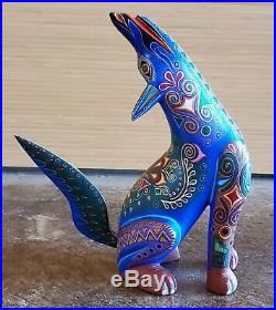 Vintage Coyote By Jacobo Angeles Alebrije Oaxacan Wood Carving