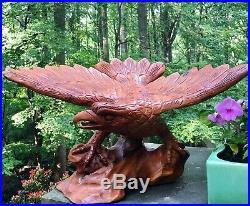 Vintage Eagle Wood Carving