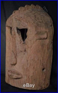 Vintage Early Middle 1900s Dogon African Mask Mid Century Sculpture carving