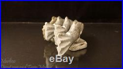 Vintage Eskimo Art Inuit Stone Carving Fish Sculpture movable with wood pin insert