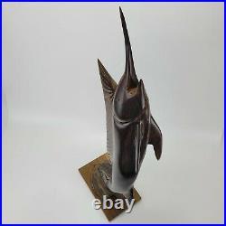 Vintage Hand Carved Ironwood Swordfish Marlin Sailfish Sculpture 30 TALL