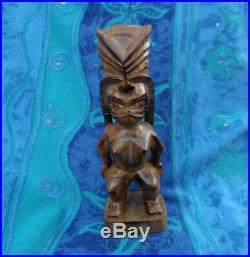 Vintage Hawaiian Hand Carved Wood Tiki Sculpture