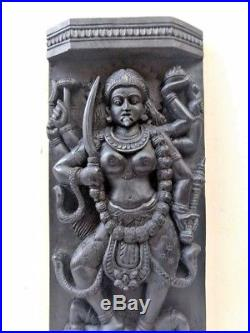 Vintage Hindu Durga Kali Devi Temple Wall Panel panel sculpture Old Statue