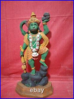 Vintage Hindu Temple God Hanuman Sculpture Statue Figurine Garuda Murti Decor