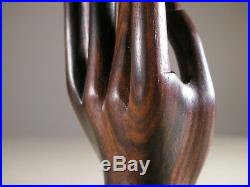 Vintage Indonesia Mas Bali Wood Carving Small Female Left Hand by IB TILEM 6