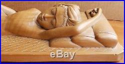 Vintage Indonesian Carved Wood Sculpture Female Indonesia Gianjar Senipahat Bali
