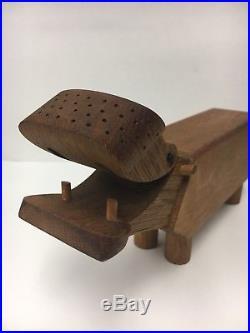 Vintage Kay Bojesen Wood Hippo Mid Century Danish Modern Sculpture