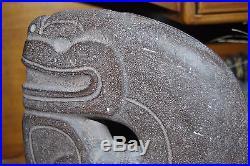 Vintage LARGE gray stone ALVA sculpture TOTEM reproduction 1981 Signed 13