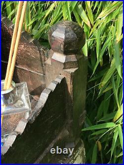 Vintage Large Indian Sacred Hindu Wooden Home Shrine Temple Puja Hand Carved