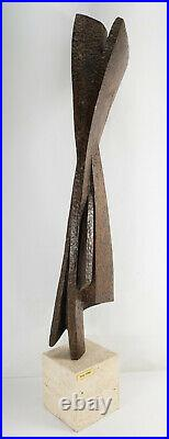 Vintage MCM Mid Century Modern Abstract Carved Wood Sculpture Betty Gilman