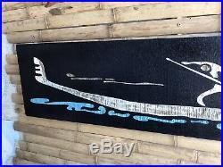 Vintage MID CENTURY MODERN Wood Carving 4 Wall Hanging Art(Gondola/Paddle Brd.)