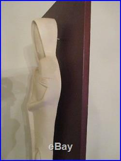Vintage MID Century Modern Madonna MCM Pottery Hollywood Regency 3d Sculpture