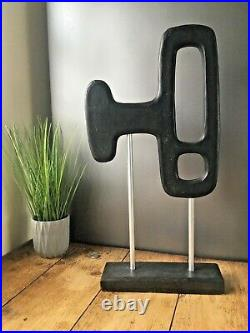 Vintage MID Century Modern Style Wooden Art Sculpture Modernist Space Age Design