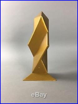 Vintage Maquette Mini Model Abstract Modern Wood Geometric Sculpture Signed