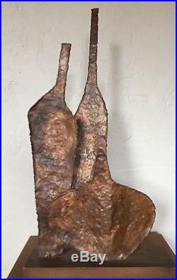 Vintage Marcello Fantoni Brutalist Copper Sculpture Raymor Bottles 1950 Metal