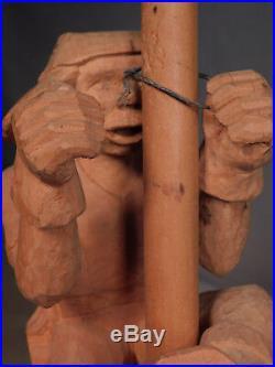 Vintage Master Folk Carver Statue Railroad Worker Harold E Koenigstein Anna IL