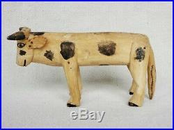 Vintage Mexican Folk Art ALEBRIJE Wood Carving Cow Oaxaca Oaxacan RARE 1960s/70s