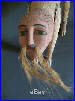 Vintage Mexican Folk Art Alebrije Wood Carving Nagual Manuel Jimenez Oaxaca