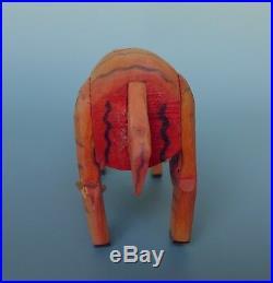 Vintage Mexican RAM wood carving attrib to MANUEL JIMENEZ Oaxaca 7 1/2 long