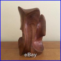 Vintage Mid Century Modern Abstract Wood Sculpture Noguchi Maloof Nakashima Noll