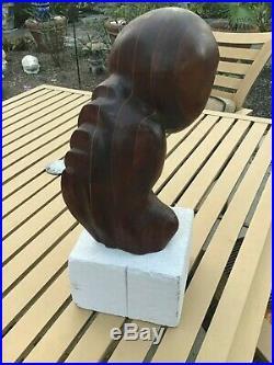 Vintage Mid Century Modern BRUTALIST OWL Sculpture Wood