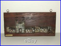 Vintage Mid Century Modern Wall Art Sculpture The Mission by Dale Du Wayne