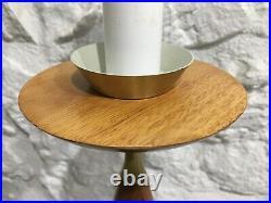 Vintage Mid-Century Modern Wood Sculptural Table Lamp