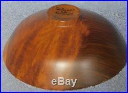 Vintage Modern Sculpture Master Turner Wood Bowl Bob Stocksdale 1979 Craftsman