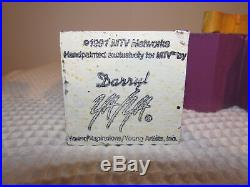 Vintage Mtv Wood Logo Signed 1991 Yaya Artist Darryl Art Sculpture 5