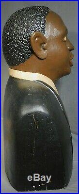 Vintage Outsider Folk Art Wood Carving Sculpture PAUL WEIR Martin Luther King Jr
