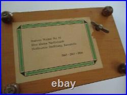 Vintage Paid Music Box Wood Sculpture Reuge Swiss Musical Movement Serenade