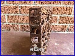 Vintage Pair of Balinese Panels Relief Hand Carved Wood Wall Art Fine Carving